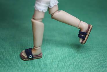 Miniature Birkenstocks by gaernavi