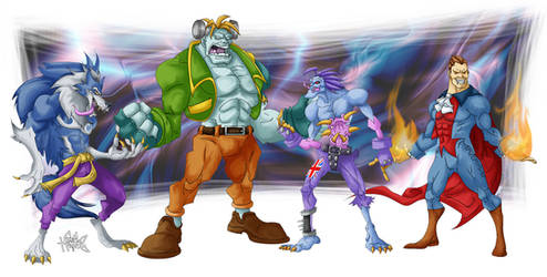 Gentlemen of Darkstalkers by ElectricDawgy