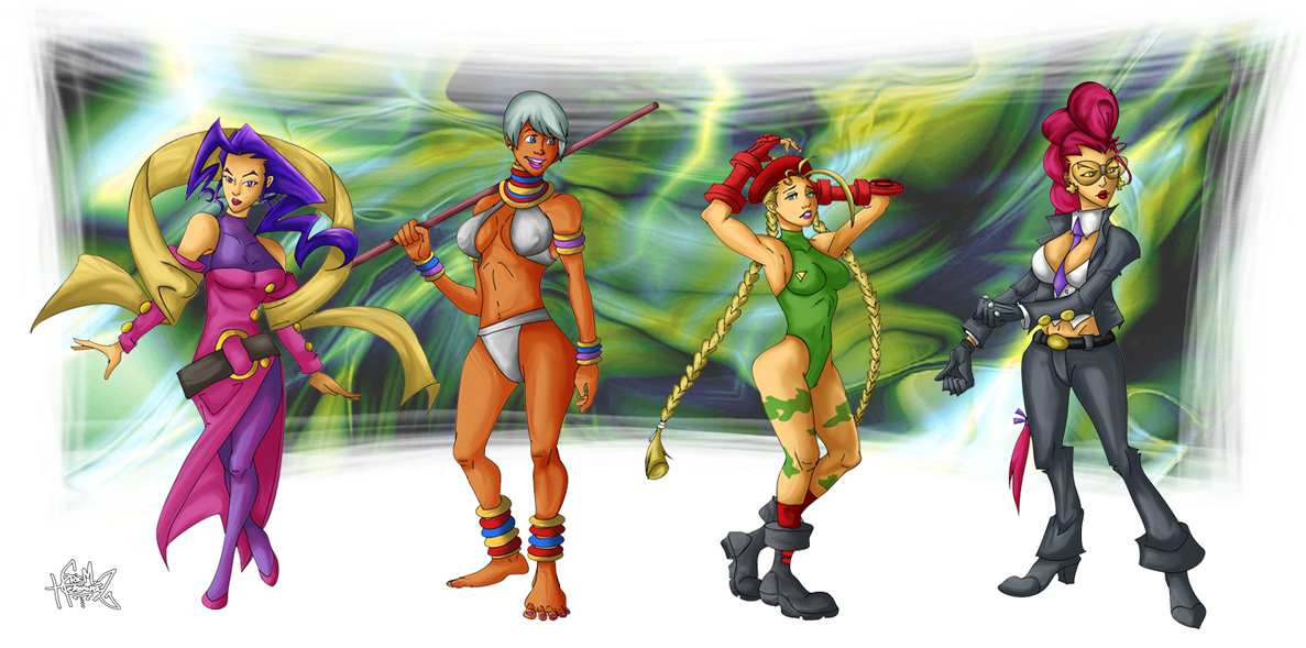 The Ladies of Street Fighter by ElectricDawgy