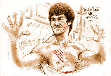 Heroes Series: Bruce Lee by ElectricDawgy