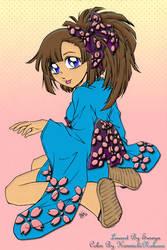 Girl in a mini Kimono by KimmichiNakano