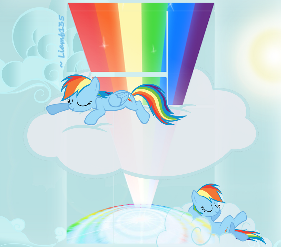 Rainbow Dash YouTube Layout by Liamb135