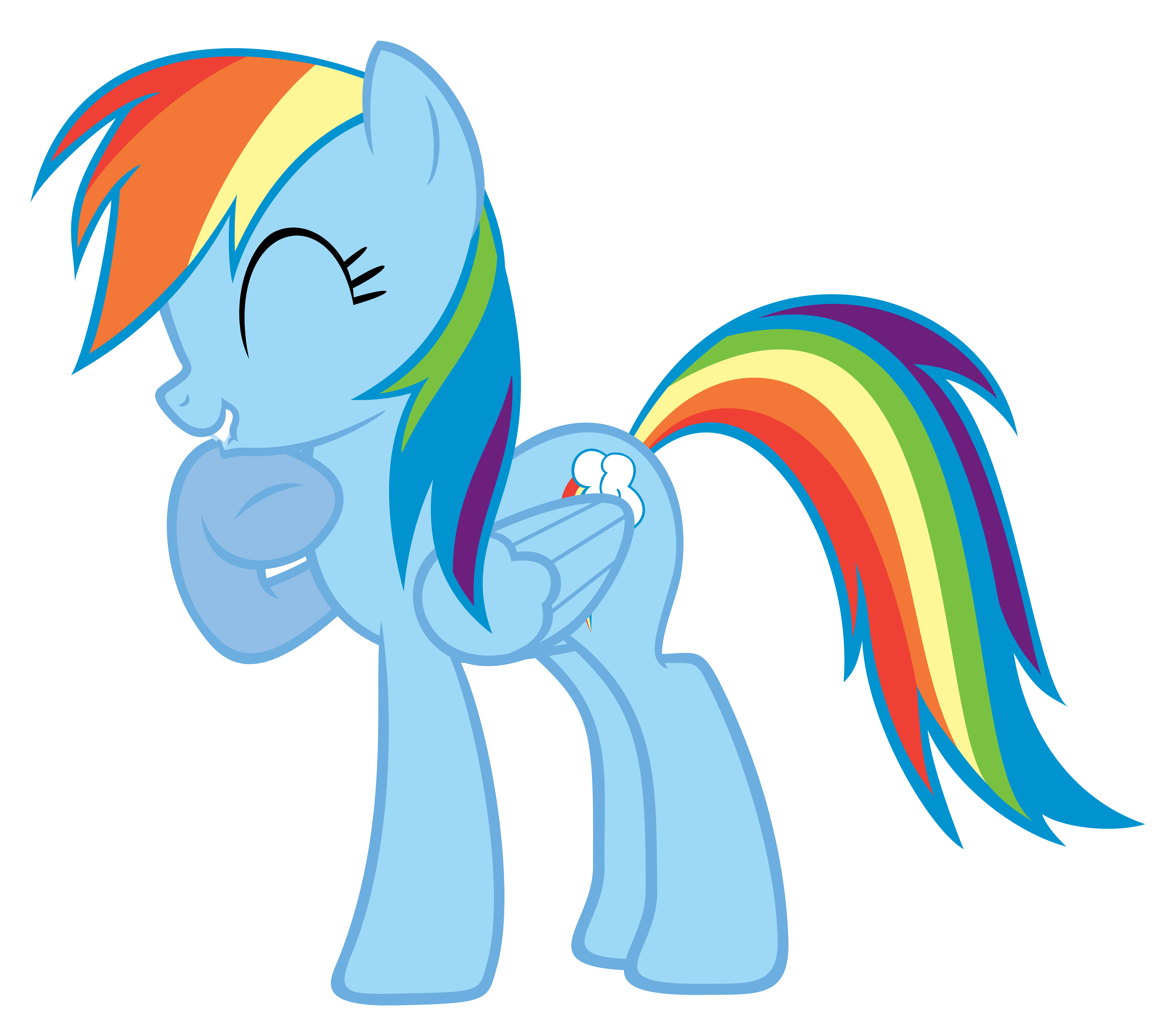 Rainbow Dash Giggling by Liamb135