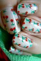 Yummy Cherry nailart by VeeviS2