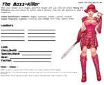 Avatar Sheet Prototype - The Boss-Killer by Thrythlind