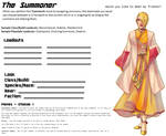 Avatar Sheet Prototype - The Summoner by Thrythlind