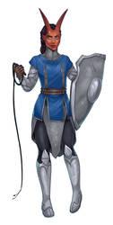 Aisha Yethtai - Knight in Silver by Thrythlind