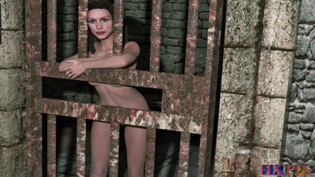 Melisa Behind Rusty Bars by FixPixArt
