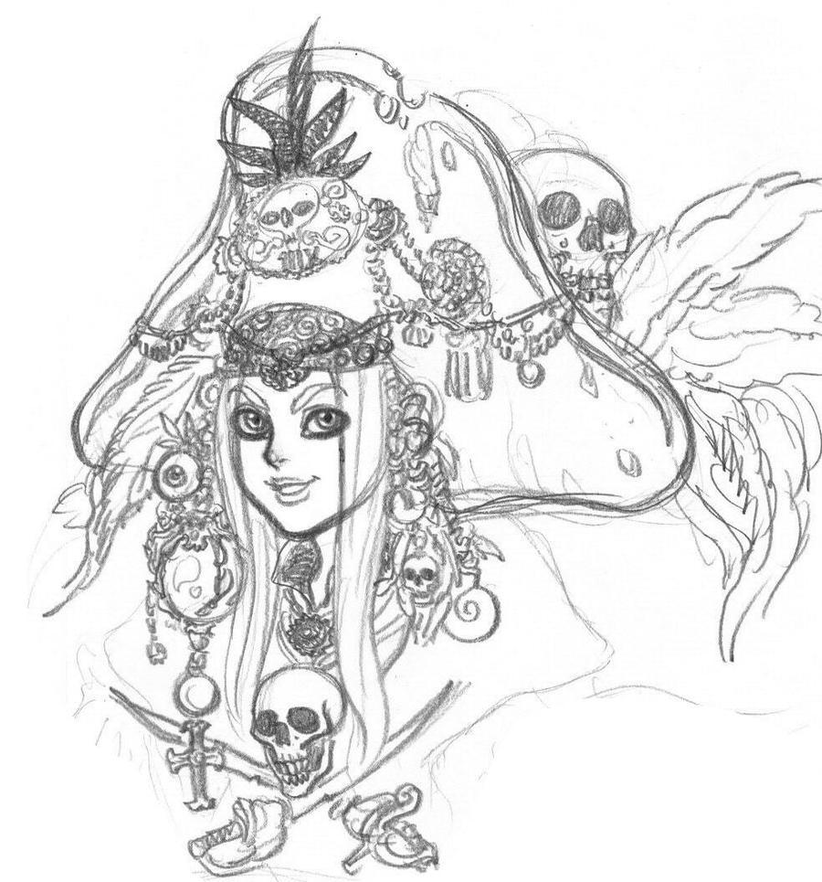 Female pirate drawing - photo#23