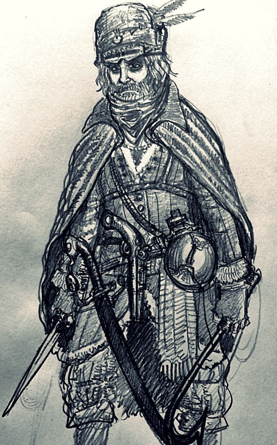 Rouge Cravat, the old bandit. by jack8642