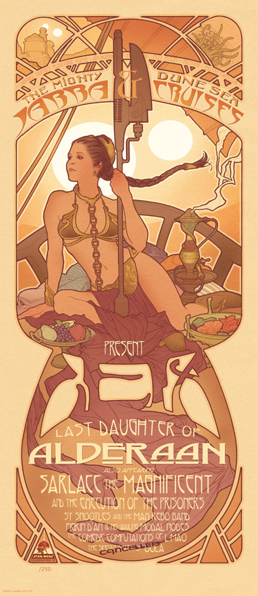 Art Nouveau Slave Leia by AdamHughes