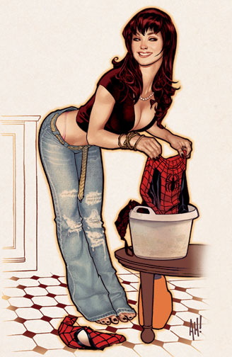 Mary Jane Litho by AdamHughes