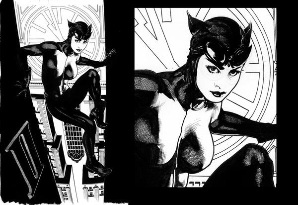 Catwoman 64 Uncolored