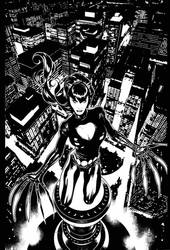 Stan Lee's Catwoman Cover by AdamHughes