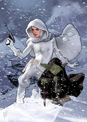 Snowbunny Padme and Yoda by AdamHughes