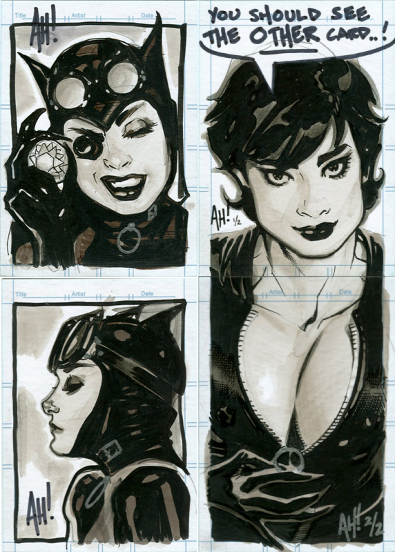 Catwoman Sketch Cards