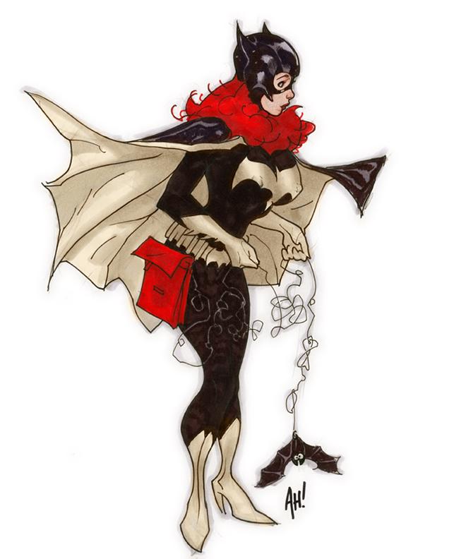 Batgirl Con Sketch by AdamHughes