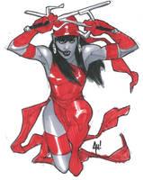 Elektra Con Sketch by AdamHughes