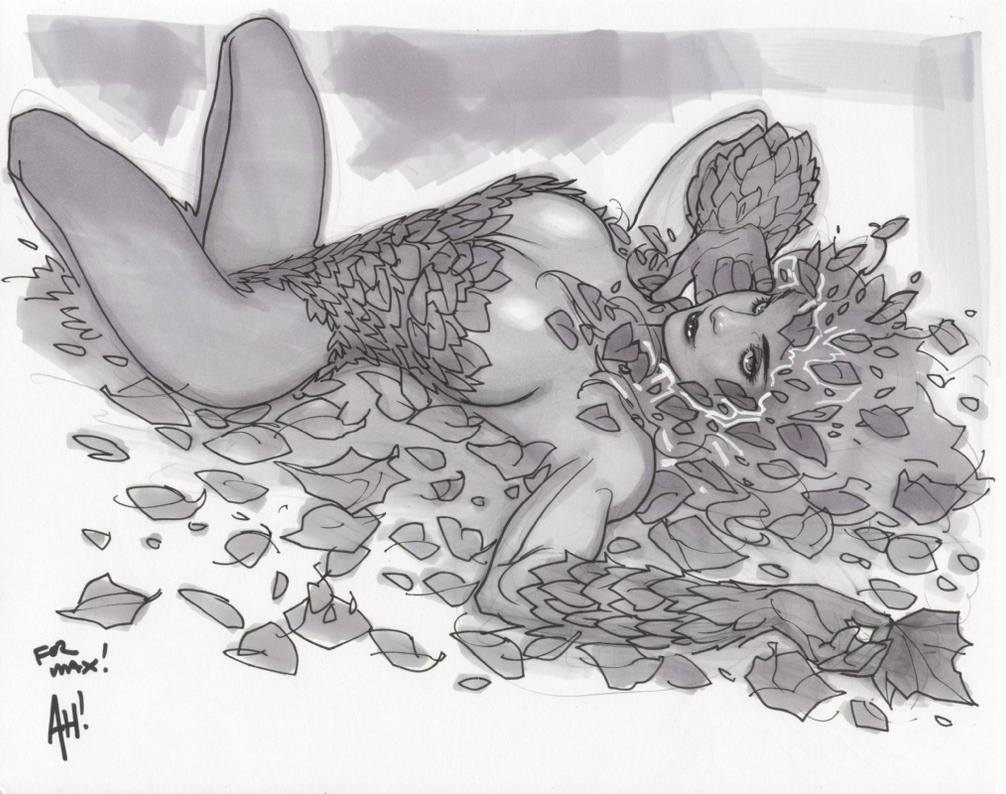 Poison Ivy Sketch by AdamHughes
