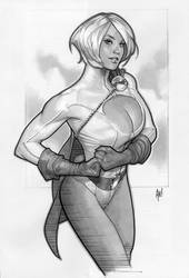 Power Girl 'Sketch' by AdamHughes