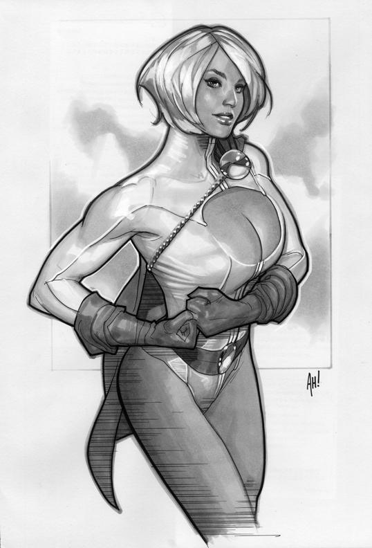 Power Girl 'Sketch' by AdamHughes