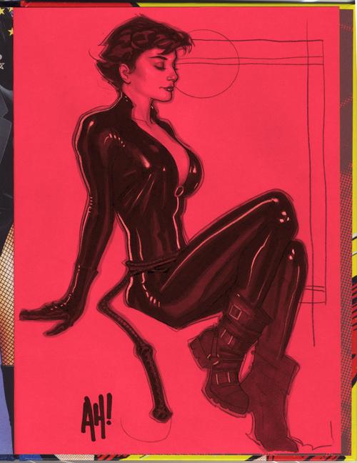 Catwoman Sketch by AdamHughes