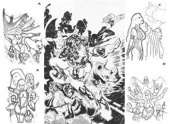 Teen Titans Lineart