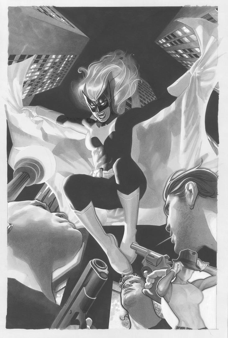 Batwoman Lineart by AdamHughes