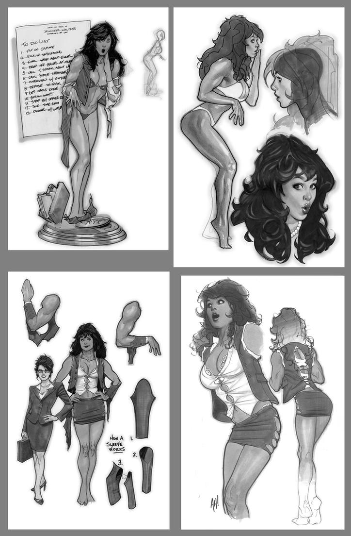 She-Hulk Designs by AdamHughes