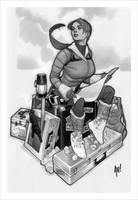 Sideshow Lara Croft Statue by AdamHughes