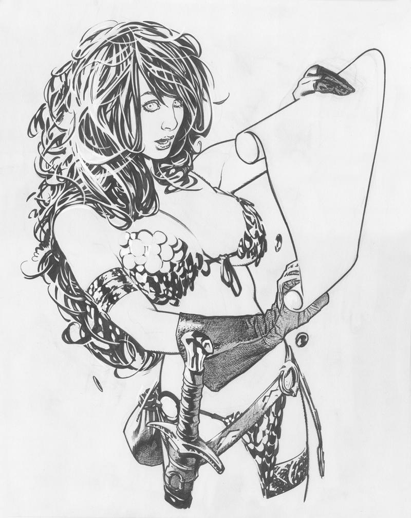 ImagineFX Line Art by AdamHughes