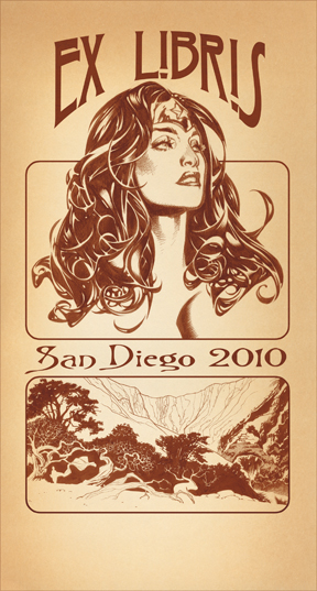 SDCC Bookplate by AdamHughes