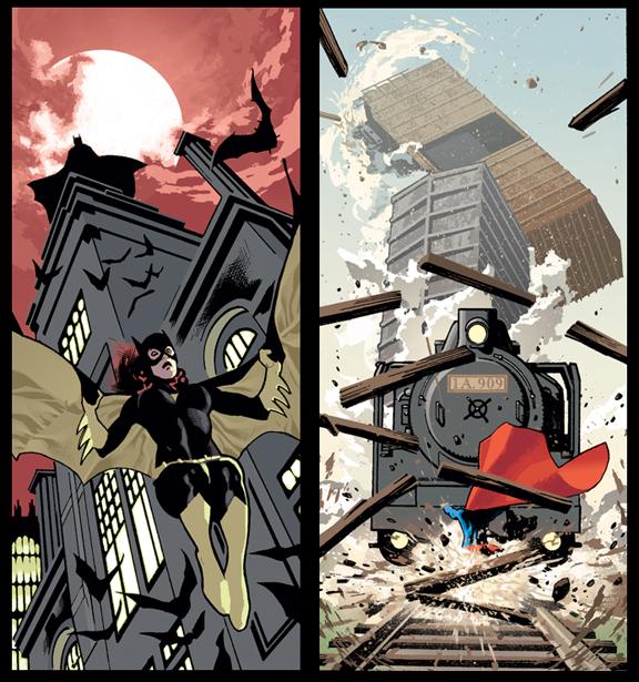 Batgirl and Supergirl by AdamHughes
