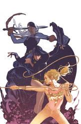 Teen Titans Variant Cover by AdamHughes