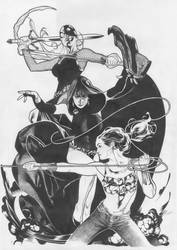 Teen Titans Line Art