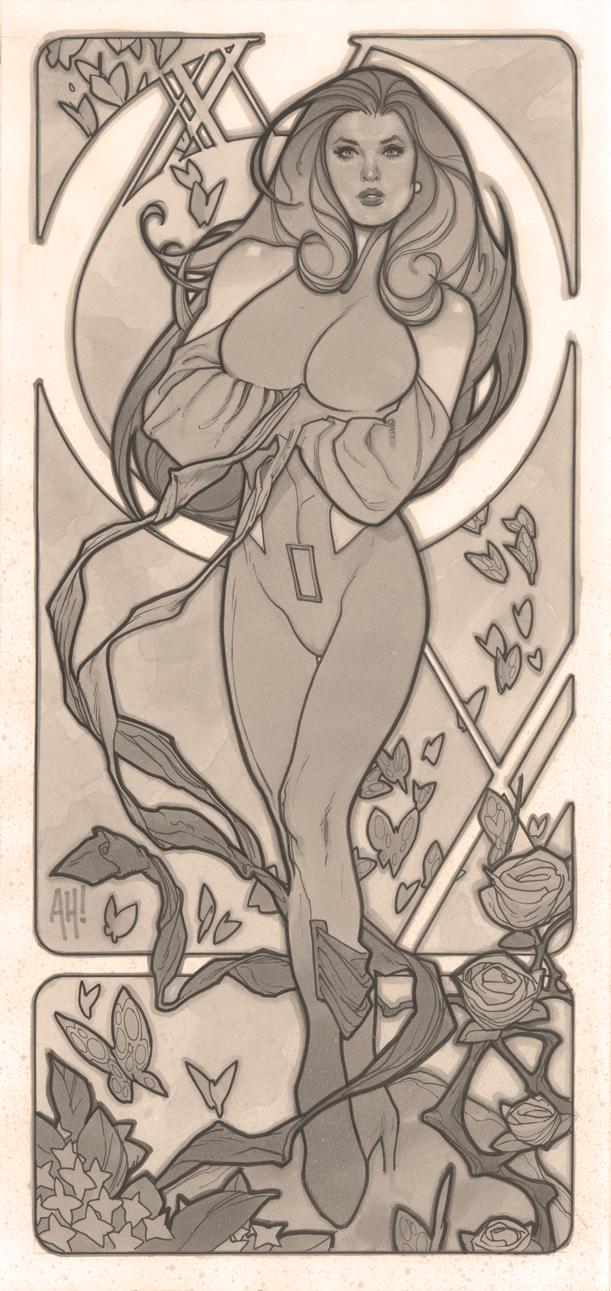 Art Nouveau Psylocke by AdamHughes