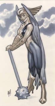 Hawkgirl Statue Design