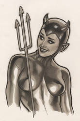 COPIC Devil Girl by AdamHughes