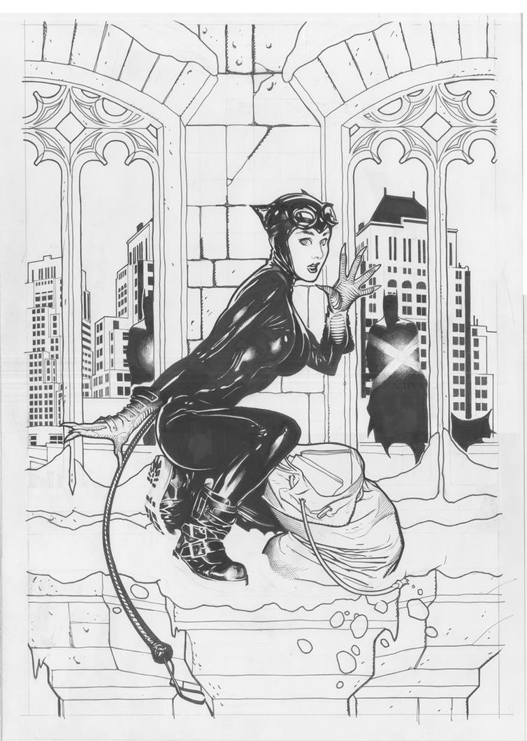 Overstreet Catwoman Lineart by AdamHughes