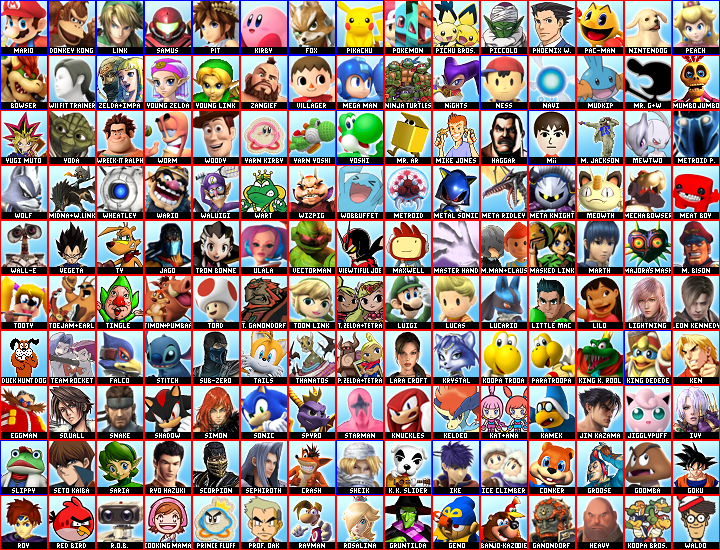 Mewkwota Super Smash Bros 4: My Dream Super Smash Bros. 4 Roster By JayTheBrainMann On