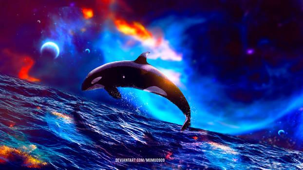 Galaxy Whale -Daily Deviation- by mumu0909