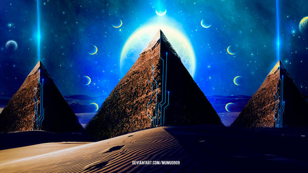 The Pyramids by mumu0909