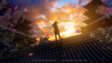 Temple of the Samurai (Collaboration) by mumu0909