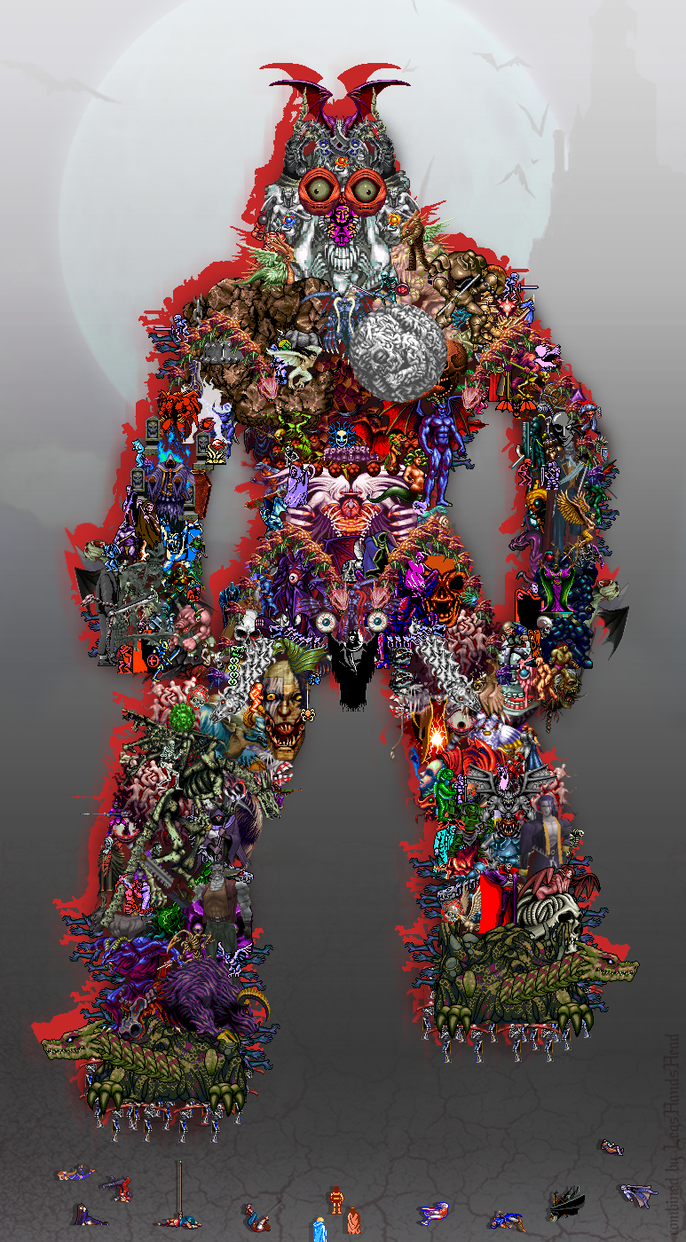 Epic Castlevania Beast (collage)