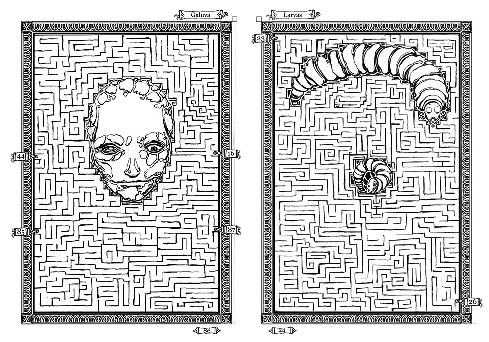 Book of Mazes Pages I by LegsHandsHead