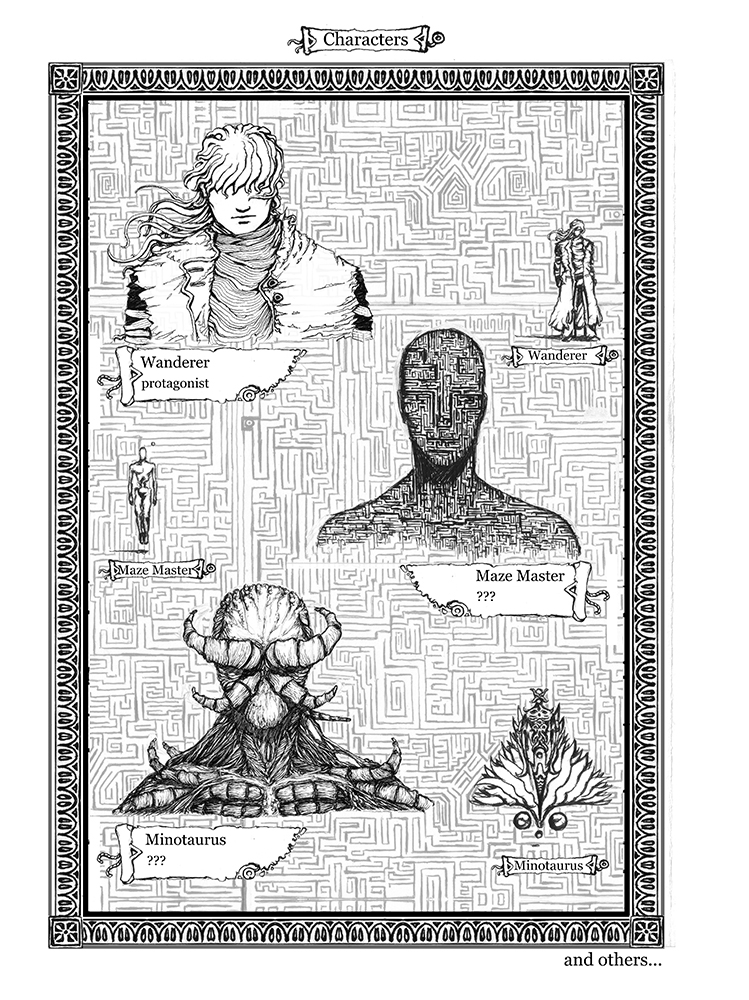 Book of Mazes Characters IV by LegsHandsHead