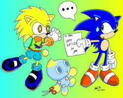 Rapid and Sonic by Rapid-the-Hedgehog