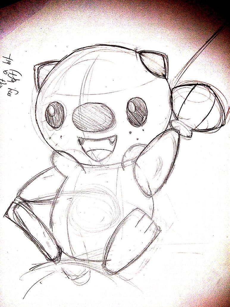 Oshawott - Pencil Sketch by Rapid-the-Hedgehog
