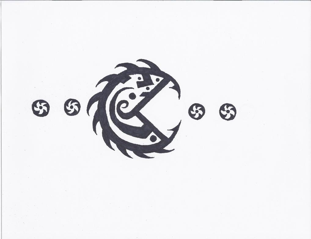 pacman tribal tattoo by generalpurposegeek on deviantart. Black Bedroom Furniture Sets. Home Design Ideas