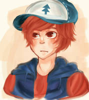dipper doodle by Namimorii